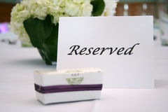 Reserved table card Royalty Free Stock Images