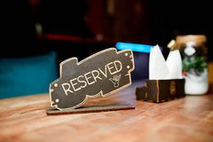 Reserved the table Stock Images