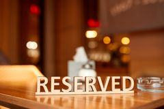 Reserved the table Royalty Free Stock Images