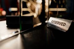Reserved on the table Royalty Free Stock Photos