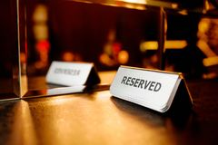 Reserved on the table Stock Photos