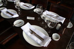 Reserved table in a restaurant Royalty Free Stock Photo