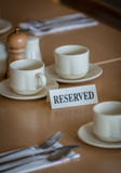Reserved table in a restaurant Stock Photos
