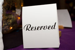 Reserved Tag Royalty Free Stock Photos