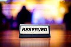 reserved tecken Arkivfoton