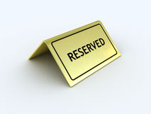 reserved tecken Arkivfoto