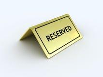reserved tecken Arkivfoto