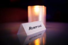 reserved tecken Arkivbild