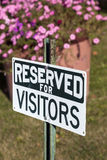 Reserved for visitors Royalty Free Stock Image