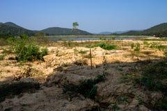 Reserved water at Hui Lan irrigation dam Royalty Free Stock Photography
