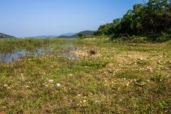 Reserved water at Hui Lan irrigation dam Stock Photography