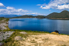 Reserved water at Mae Ghat irrigation dam Royalty Free Stock Photography