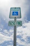reserverad handikappparkering Arkivfoto
