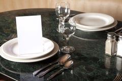 Reserverad bordsservis Fotografering för Bildbyråer