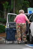 Reserverat parkera undertecknar Royaltyfria Bilder