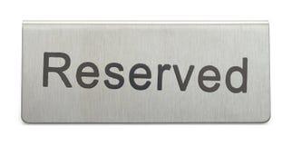 Reserverat tecken för metall arkivbild