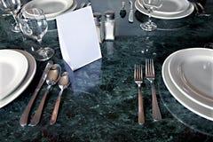 ?Tableware aufgehoben Stockfoto