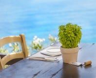 Reservierte Tabelle Getrennt Stockfoto