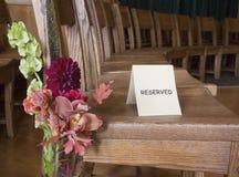 Reservierter Stuhl lizenzfreies stockbild