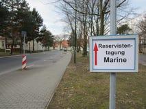 Reservofficermöte av den tyska marinen royaltyfri foto