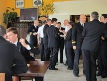 Reservofficermöte av den tyska marinen royaltyfri bild