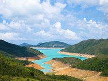 Reservoir. Natural reservoir in sunny day Royalty Free Stock Image