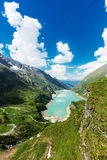 Reservoir in the Alps Royalty Free Stock Photo