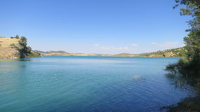 Reservoir in Andalusia, Spain Royalty Free Stock Photography