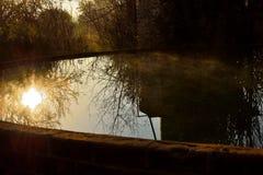Reservoir bij Windmolen Stock Foto's