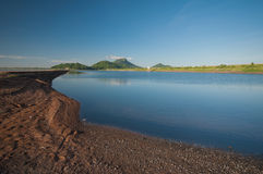 Reservoir and blue sky in Chonburi Thailand Royalty Free Stock Photography