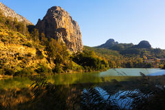 Reservoir in Chorro-Fluss andalusia Stockfoto