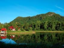 Reservoir in Chumphon, Thailand Lizenzfreies Stockbild