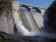 Reservoir Dam. Photo of the Prettyboy Reservoir Dam north of Baltimore Maryland. The Prettyboy reservoir provides fishing for bass and sunfish. The Gunpowder Royalty Free Stock Photography
