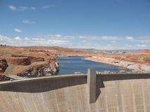 Reservoir Dam at Lake Powell Stock Images