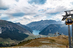 The reservoir or dam at Livigno, Italy Royalty Free Stock Image