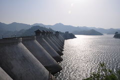 Reservoir dam. Meishan reservoir dam anhui province china Stock Photography