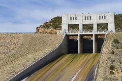 Reservoir dam Stock Images