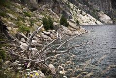 Reservoir in de bergen van de Spaanse Pyreneeën royalty-vrije stock afbeeldingen