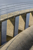Reservoir details water and brickwork Royalty Free Stock Images