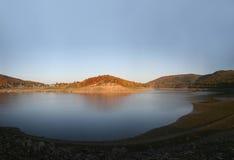 Reservoir Edersee in Duitsland Stock Afbeeldingen