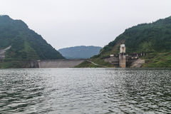 The reservoir on the elegant female lake,sichuan,china Royalty Free Stock Photo