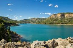 Reservoir Embalse de Arenos,蒙塔内霍斯,西班牙 库存图片