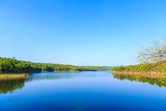 Reservoir en aantrekkelijkheden Stock Fotografie
