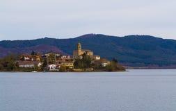 Reservoir en Gemeente ulibarri-Gamboa, Araba. stock foto's