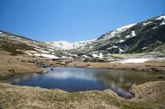 Reservoir at gredos valley Stock Photography