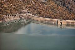 Reservoir großer Höhe Mooserboden, nahe Kaprun - Zell morgens sehen, Österreich Stockfoto