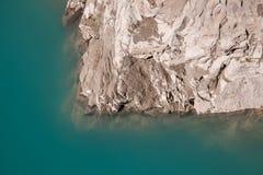 Reservoir großer Höhe Mooserboden, nahe Kaprun - Zell morgens sehen, Österreich Stockbilder