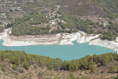 Reservoir of guadalest Royalty Free Stock Image