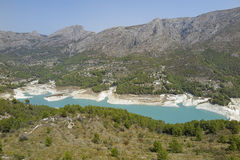 Reservoir of guadalest Royalty Free Stock Images