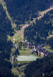 Reservoir Hrabovo near town Ruzomberok, Slovakia Royalty Free Stock Images